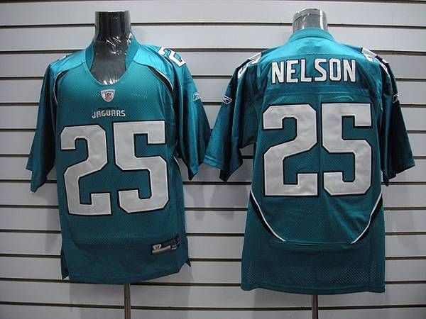 Jaguars Reggie Nelson #25 Green Stitched Team Color NFL Jersey